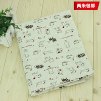 Fabrics Sale Zakka Linen Fabric For Patchwork Vintage Cartoon Textile Fabric For Sewing Crafts Material For
