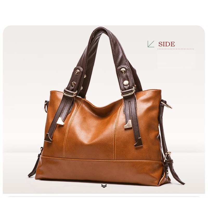 New Women Handbag Genuine Leather Bag Lichee Pattern Shoulder Bags Bolsas Femininas Crossbody Tote Fashion Messenger In From