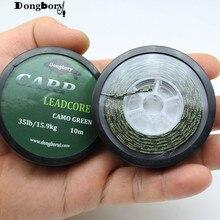 2PCS 10 M Carp Fishing LeadCore Leader Lead Core Lead Fishing Line Braided Sinking Camo Green 35LB 45LB 55LB Hair Rig