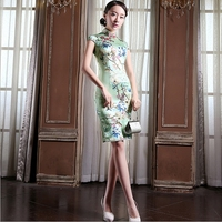 Sexy Warm Silk Cheongsams Chinese Vintage Silm Women Dress Handmade Qipao Party Dresses JS MSF 0060