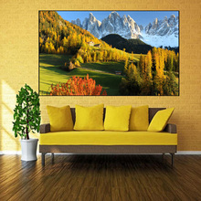 Full Square Drill 5D DIY Diamond Painting Autumn scenery of the Alps Cross Stitch Northern Europe Home Decor Gift Y2985