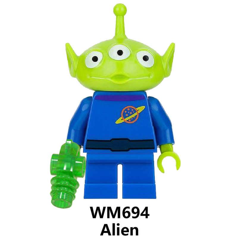 Mainan Cerita 4 Buzz Lightyear Woody Jessie Alien Bebek Bo Peep Bonnie Duke Caboom Blok Bangunan Model Angka Film Mainan WM6060