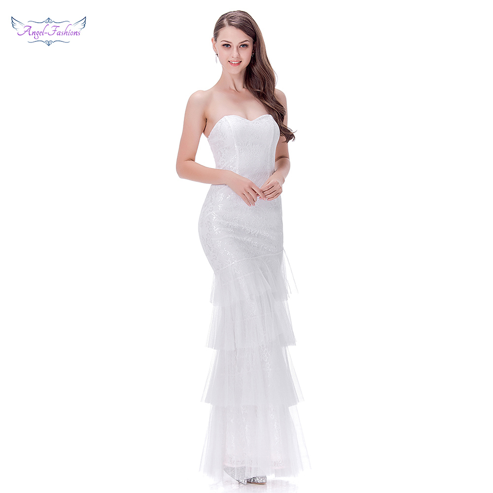 Rivini Lace Tiered Wedding Gown: Aliexpress.com : Buy Angel Fashions Simple Wedding Dresses