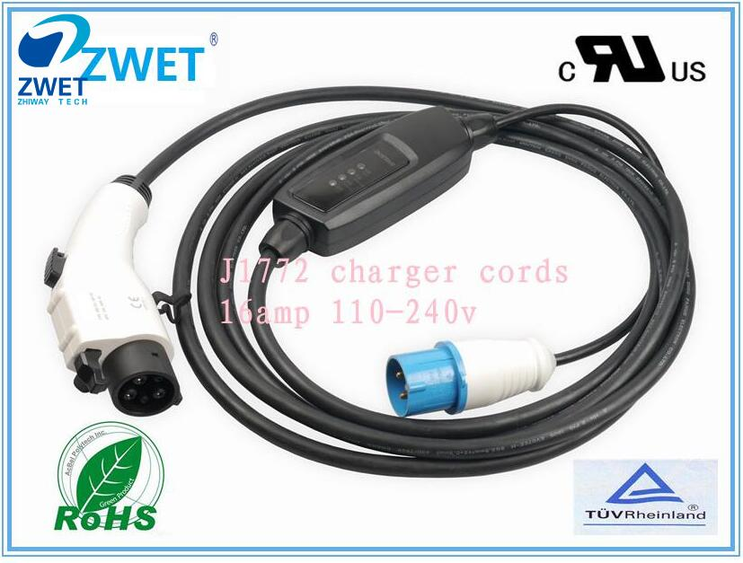 Honest J1772 Evse Electric Car Charger Industrial Plug Dousida Ac120v~250v 16a J1772 Plug Type 1 Charger With Industrialplug Input Beneficial To The Sperm Electric Vehicle Parts