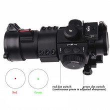 Ledarnell Outdoor Hunting Tactical Red Green Dot Scope Laser Sight with Fiber for 20MM Weaver Rail Mount