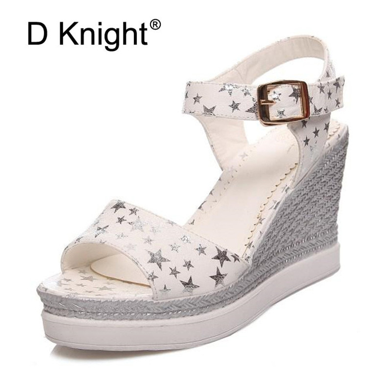 2019 Summer Shoes Woman Platform Sandals Women PU Leather ...