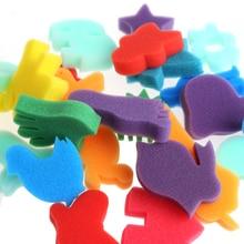 24pcs sponge set childrens children art craft painting Diy toy family educational toys