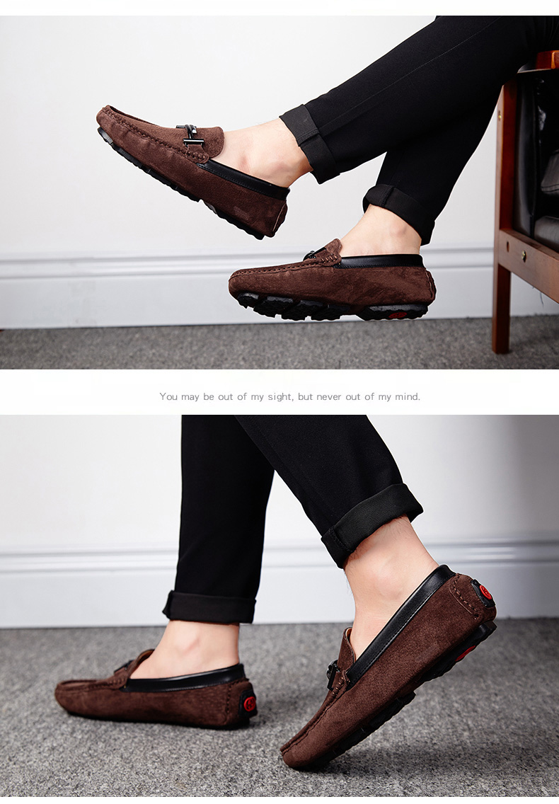 Men's Top Brand Fashion Casual Soft Loafers Suede Boat Shoes Male Footwear Adult Drivings Summer Moccasins Hommes Plus Size 11 67