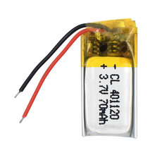 best Rechargeable battery 3.7V MP3 MP4 GPS 401120 401120 polymer lithium batteries For Bluetooth Headsets Speakers 70MAH(China)