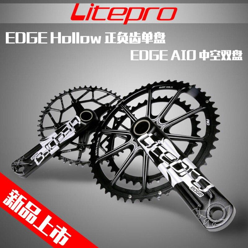 Litepro EDGE AIO Hollow Double Chainring road bike Crankset Crank 53T/59T 50/34T 52/36T   for road  bike 170/172.5mmLitepro EDGE AIO Hollow Double Chainring road bike Crankset Crank 53T/59T 50/34T 52/36T   for road  bike 170/172.5mm