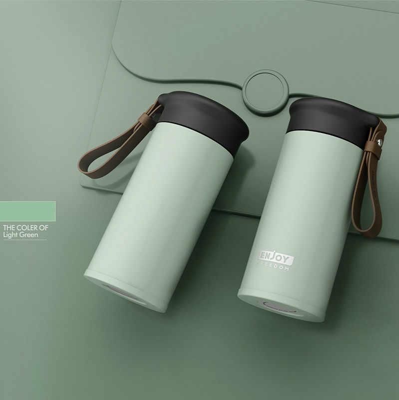 Frascos de vacío de acero inoxidable de doble pared de calidad OWNPOWER 280ml taza térmica de coche café té taza de viaje termo de botella