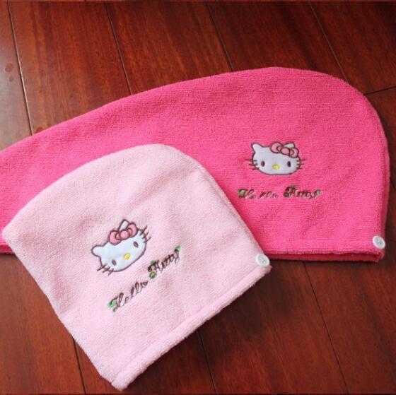 247327ea8 New Hello Kitty Womens Girls Lady's Magic Quick Dry Bath Hair Drying Towel Head  Wrap Hat Cap Bathing Tool One Size