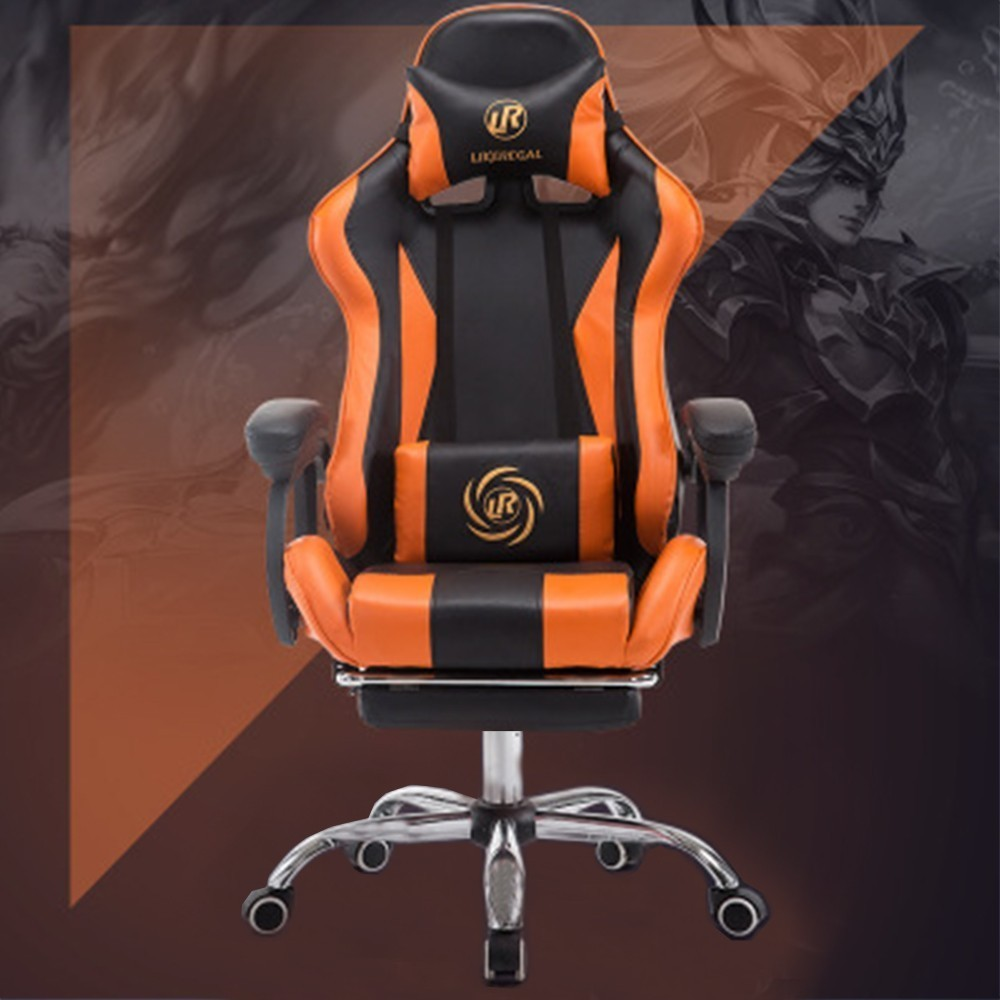 PHLOL Racing Chair Game E Sports Computer Ergonomic Chair Home Seat Covers  Office Chairs Internet Bar Chair