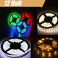12 V Levou Luz de Tira Não-impermeável Interior LEDs Night Lamp Branco Vermelho Azul Amarelo Verde Fita Fita 5 Metros Decoração Do Casamento