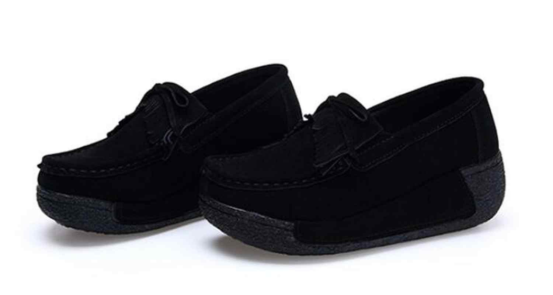 Kwaliteit Lente Platte Vrouwen Schoenen Platform Sneakers Mocassins Lederen Slip op Flats Casual Dames Loafers Kwastje Creeper Sneaker