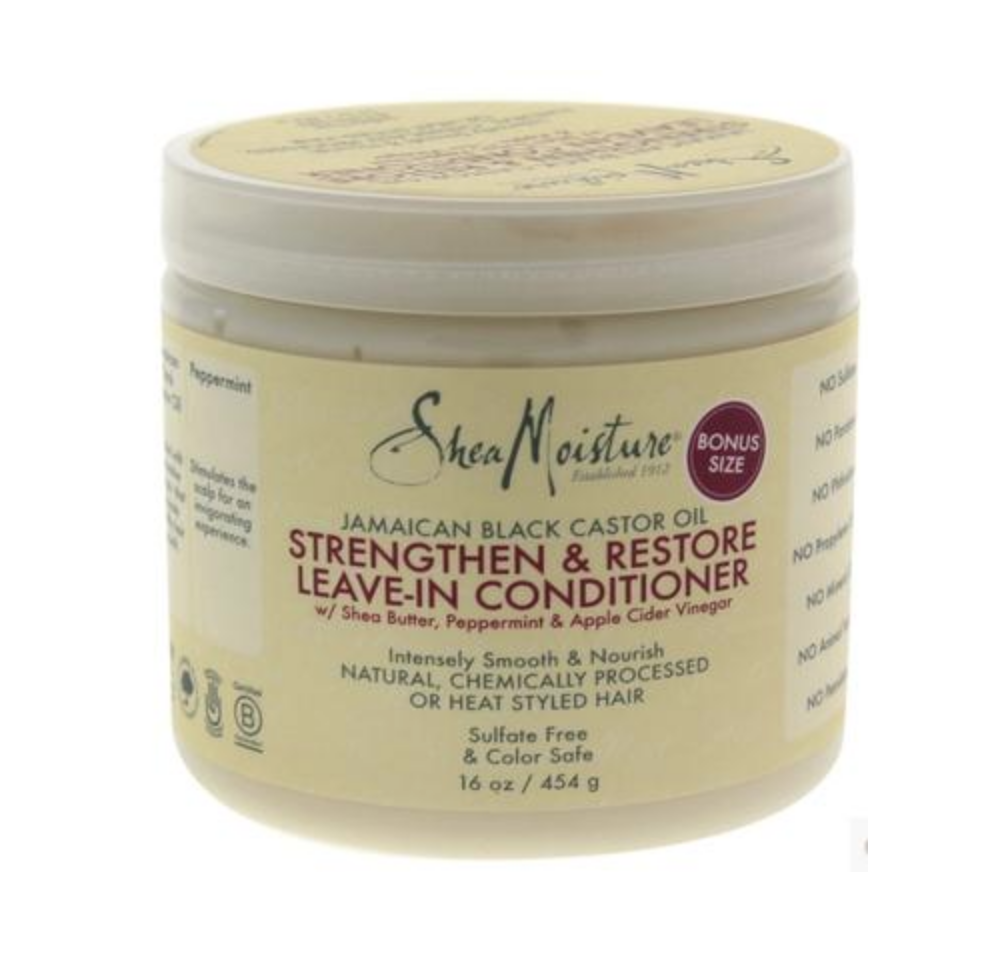 Shea Moisture Strengthen&Restore leave-in conditioner natural Shea Butter black castor oil anti breaking conditioner 453g image