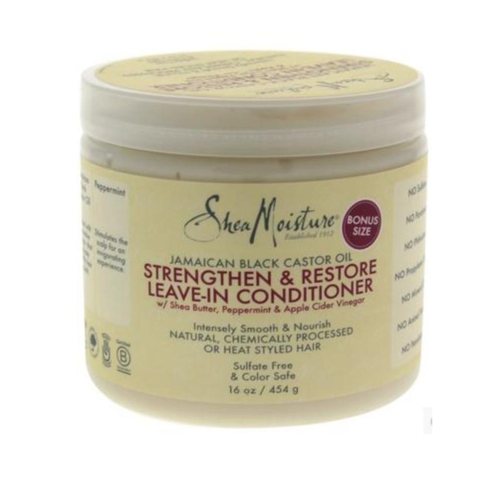 Shea Moisture Strengthen&Restore Leave-in Conditioner Natural Shea Butter Black Castor Oil Anti Breaking Conditioner 453g