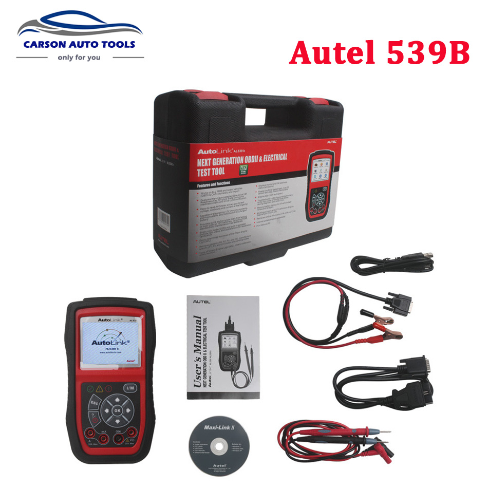 Autel autolink al539b obdii code reader electrical test tool al539 with battery test tool auto