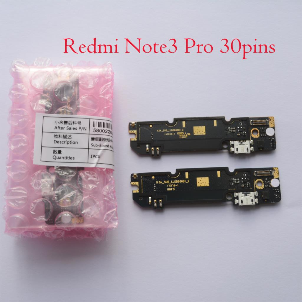 New Original Microphone Module+USB Charging Port Board Flex Cable Connector Parts For Xiaomi Redmi Note 3 Pro Redmi Note3 image