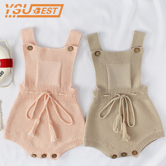 ebe718d44 Baby Girls Knitting Romper Knitted Baby Romper Overalls Clothes ...