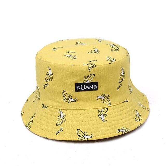 VORON 2017 Reversible Bucket Hat Unisex Fashion Bob Caps Hip Hop Gorro Men  Summer Caps Beach Sun Banana Bucket Hat Fishing Cap ea134393265