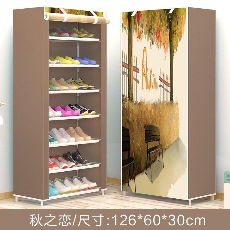 Art Landscape Non-woven 6Tier Homestyle Shoe Cabinet Shoes Racks Storage Large Capacity Home Furniture Diy Simple free shipping oxford homestyle shoe cabinet shoes racks storage large capacity home furniture diy simple