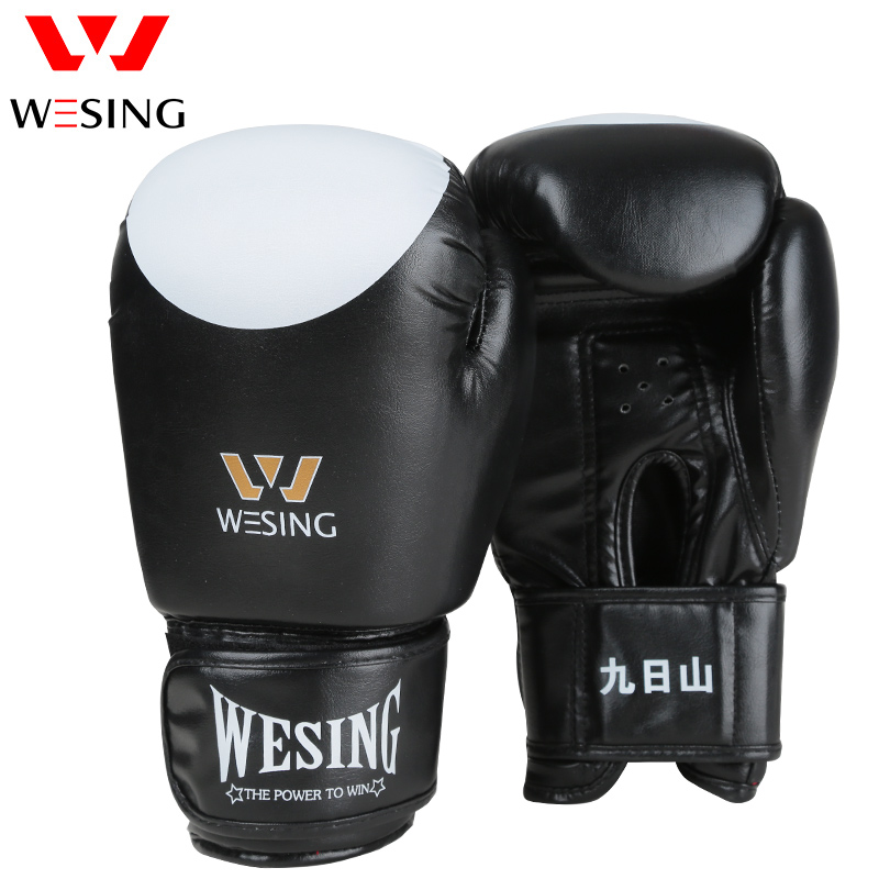 Wesing Black Red Blue Boxing Gloves for Training Competition Sports Gym Protective Gears Protection Kickboxing Gloves