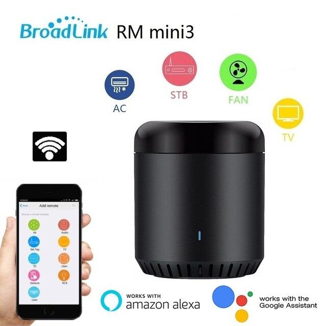 Broadlink RM Mini3 czarna fasola uniwersalny pilot, WiFi + sterowanie ir Hub dla inteligentnego domu, kompatybilny z Alexa, jeden dla wszystkich Infrare