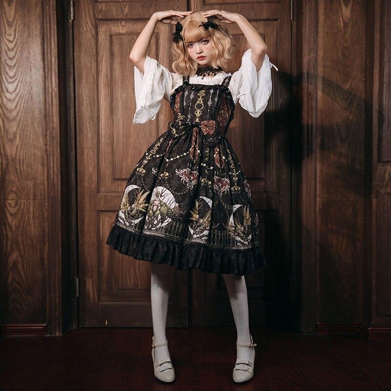 Grande taille offre spéciale Design Original sur l'autel de Lolita robe palais restauration anciennes façons Jsk Condole ceinture robes 2019 nouveau