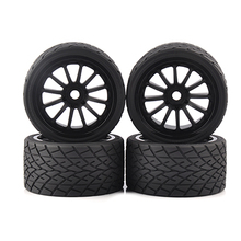 4pcs/set 1/8 On-Road Bigfoot Wheels Tires& Rims 17mm Hex For 1:8 RC Model On-Road Car 26412 цена в Москве и Питере
