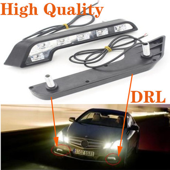 Daytime Running Lights LED White Light L-Shape Strips best LENS 12V DRL 6W DIY LED Lamp Fog Light Driving Parking Light kit цена 2017