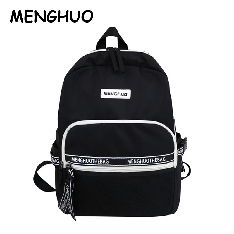 Menghuo Nylon Waterproof Ladies Backpack Large Capacity Student Bag Casual Wild Travel BackpackMenghuo Nylon Waterproof Ladies Backpack Large Capacity Student Bag Casual Wild Travel Backpack