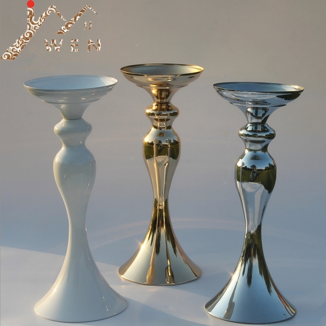 """3 colors! 32cm/12"""" height metal candle holder candle stick wedding centerpiece event romantic road lead flower rack"""