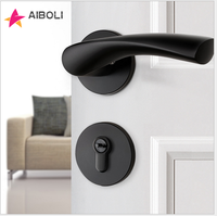 mortise lock knobs and handles Aluminum Alloy door lock Mute anti theft solid lock