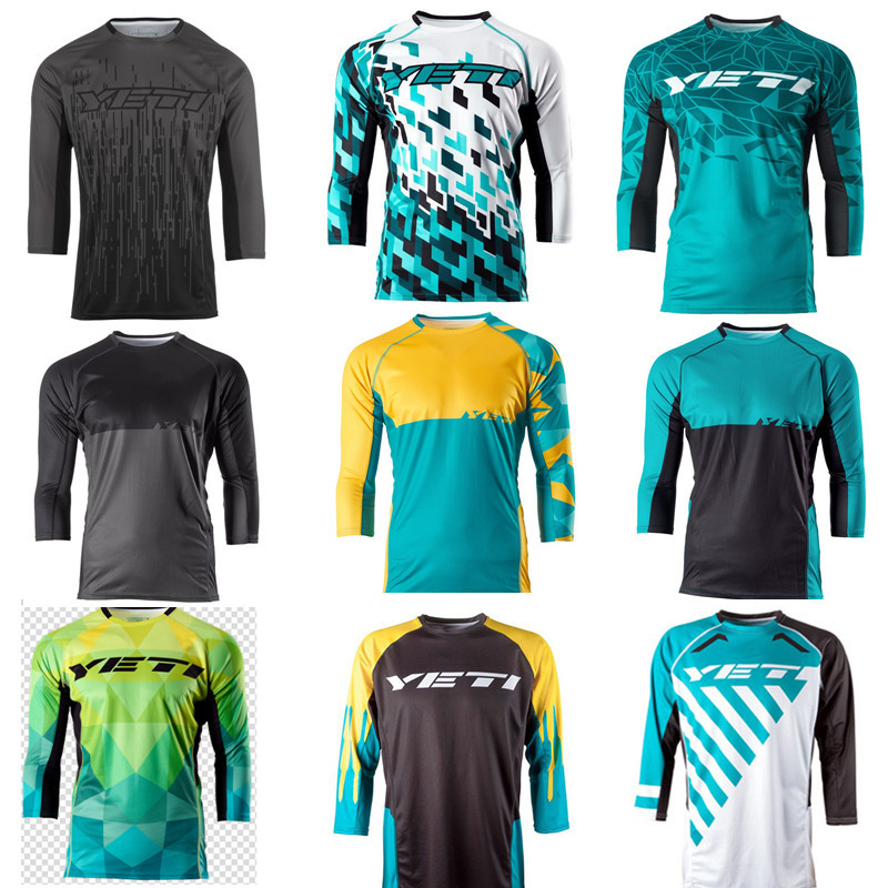 New Arrival motorcycle Jersey Mountain Bike DH Bike Quick Dry Jerse Motocross Jersey Breathable Light racing Jersey j