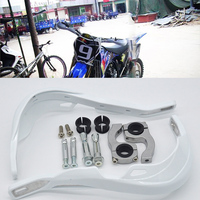 White Handguards Handlebar Motorcycle Hand Guards Fit Motocross Dirt Pit Bike Off Road CRF YZF KXF