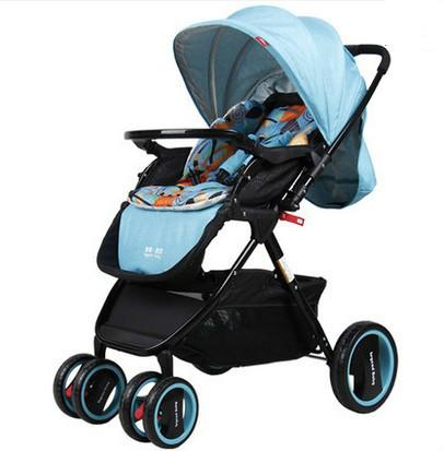 Alta paisagem carrinho de criança do guarda-chuva carrinho de crianças recém-nascidas do bebê carrinho de bebé carrinho de criança pode sentar carro pode mentir