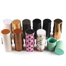 New Empty Portable Makeup Brush Round Pen Holder Cosmetic Tool PU Leather Cup Container Solid Colors 6 Optional Case