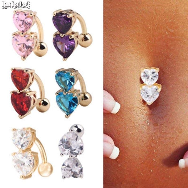 1PC Steel Belly Button Rings Crystal Piercing Navel Piercing Navel Earring Gold Belly Piercing Sex Body Jewelry Piercing