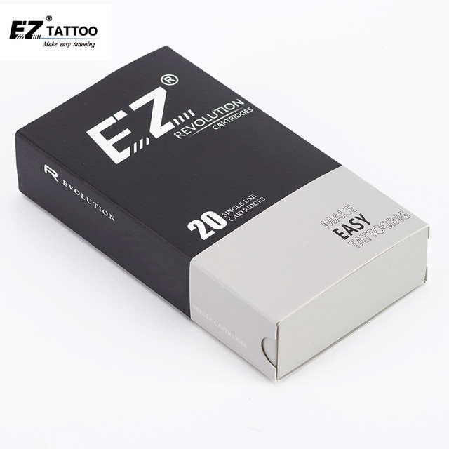 EZ Revolution Cartridges Tattoo Needles Round Liner Medium Taper 3.5mm 3/5/7/9 #10 0.30mm #12 0.35mm for Machine and Grip 20pcs