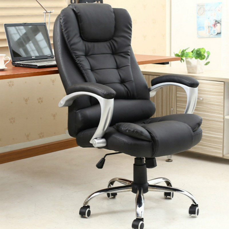 Office Chair Silla Oficina Full-grain Leather Reclining Office Computer Chair Household Swivel Lifting Gaming Chaise Silla Gamer