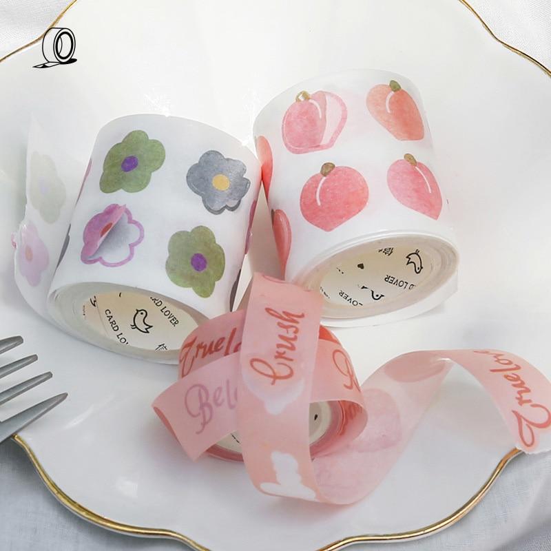 Mohamm Girls Monologue Series Cute Washi Tape Masking Tape Journal Supplies Scrapbooking Paper Stationary
