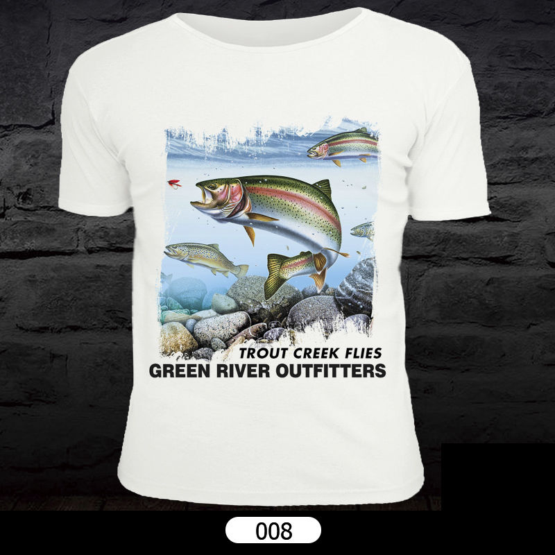 Maximumcatch XL XXL Fly Fishing T-Shirt Short Sleeve Sports Clothes Unisex Clothing Fish Pattern