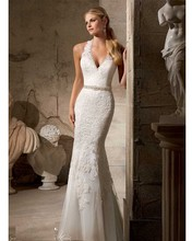 Vestido De Noiva Sereia Renda Lace Mermaid Wedding Dress Vintage Cheap Imported Civil Bridal Gown 2015 Casamento