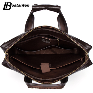 Image 5 - Bostanten 2019 New Fashion Genuine Leather Men Bag Famous Brand Shoulder Bag Messenger Bags Causal Handbag Laptop Briefcase Male