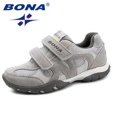 BONA ใหม่มาถึงคลาสสิกสไตล์เด็กสบายๆรองเท้า Hook & Loop Boys Loafers กลางแจ้งรองเท้าผ้าใบแฟชั่นจัดส่งฟรี
