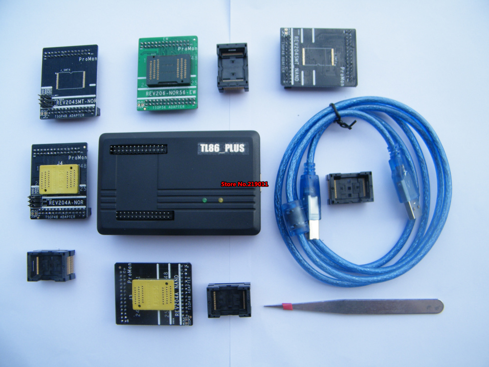 High Programming Speed NAND NOR TSOP48 TSOP56 FLASH Professional Programmer TL86 PLUS
