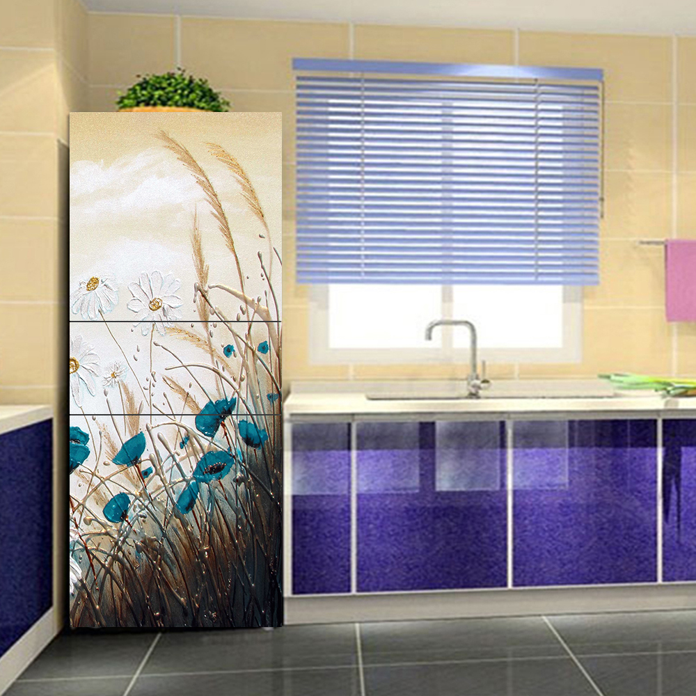 yazi λουλούδια μοτίβο ψυγείο - Διακόσμηση σπιτιού - Φωτογραφία 2