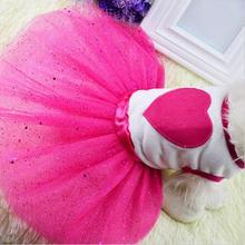New Spring Summer Pet Dress Teddy Princess Dog Dresses Lovely Pet Clothes