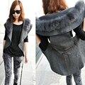 Fashion Women Vest Autumn Winter New European Style High Collar Vest Fashion Temperament Jacket Long Cardigan Tide